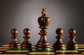 Wooden chess pieces Royalty Free Stock Photography