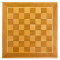 Wooden Chessboard Royalty Free Stock Photo