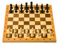 Wooden Chessboard Royalty Free Stock Photography