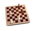 Wooden chessboard isolated illustration white background Stock Photo