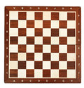 Wooden chessboard isolated on white background Stock Photography