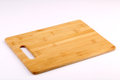 Wooden chopping block isolated with white background Royalty Free Stock Photo