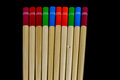 Wooden Chopsticks Isolated on a Black Background Royalty Free Stock Photo