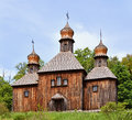Wooden Christian Orthodox Church Stock Photos