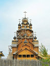 Wooden church of All Saints Stock Photo