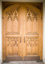 Wooden church door Royalty Free Stock Photo