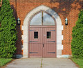 Wooden Church Doors Stock Photography