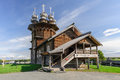 Wooden church at Kizhi, Russia Royalty Free Stock Photo