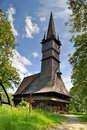 Wooden church maramures romania from surdesti unesco world heritage Stock Images