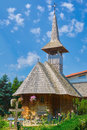 Wooden Church of Monastery Royalty Free Stock Photo