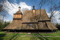 Wooden Church in Sekowa, Poland Royalty Free Stock Photography