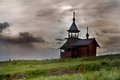 Wooden churche kizhi island karelia russia Stock Photo
