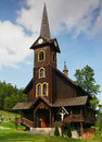 Wooden churches historic church in the slovak high tatras Royalty Free Stock Image