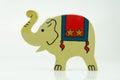 Wooden Circus Elephant on White Royalty Free Stock Photo