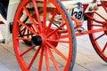 Wooden coach wheel Royalty Free Stock Photo
