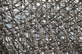 Wooden coaster scaffold construction Royalty Free Stock Photo