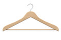 Wooden coat hanger Stock Photography