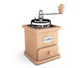 Wooden coffee mill on a white background Stock Image
