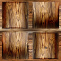 Wooden coffered paneling stacked for background seamless cherry veneer Stock Image