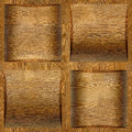 Wooden coffered paneling stacked for seamless background rosewood veneer Stock Images
