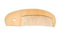Wooden comb for hair on a white background Stock Photography
