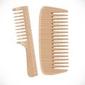 Wooden comb on white background Royalty Free Stock Image