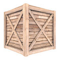 Wooden container Royalty Free Stock Photo