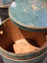 Wooden container barrel Royalty Free Stock Photo