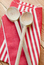 Wooden cooking spoons Stock Photos