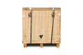 Wooden crate for industry items isolated on white background with clipping path Royalty Free Stock Photography