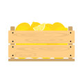 Wooden crate with lemons