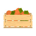 Wooden crate with persimmon