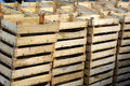 Wooden crates Stock Photo