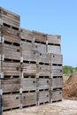 Wooden crates for shipping Royalty Free Stock Photo