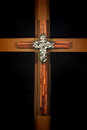 Wooden cross christian wall art decor Royalty Free Stock Photos