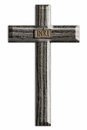 Wooden cross illustration of a with inri inscription Stock Image
