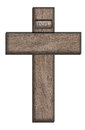 Wooden cross illustration of a with inri inscription Royalty Free Stock Images
