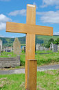 Wooden cross poor pauper's grave Royalty Free Stock Photography
