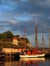 Cruise ship near Akerhus Fortress Royalty Free Stock Photo