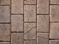 Wooden cubes background from old cracked floor blocks Stock Photography