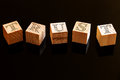 Wooden cubes Royalty Free Stock Photo