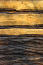 Wooden cut light brown boards of wood and bark Royalty Free Stock Photos