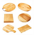 Wooden cutting boards Stock Image
