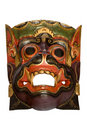 Wooden Dayak Mask Royalty Free Stock Photo
