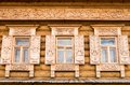 Wooden decorated windows Stock Photography