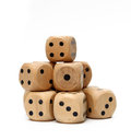 Wooden Dice Royalty Free Stock Photo