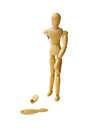 Wooden doll Royalty Free Stock Image