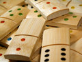 Wooden dominoes Royalty Free Stock Photo