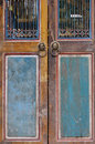 Wooden door aged Stock Photography