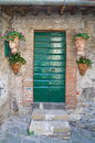 Wooden door. Bolsena. Lazio. Italy. Royalty Free Stock Image